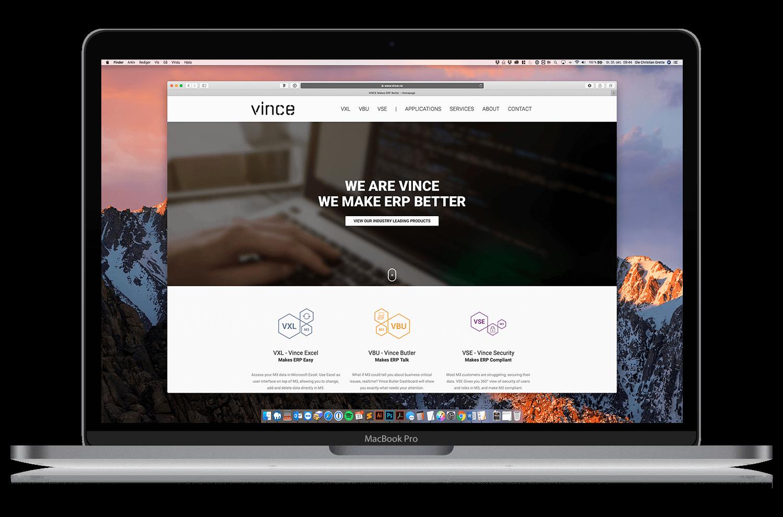 ny hjemmeside for vince