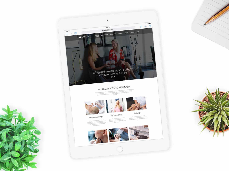 iPad visning av TM klinikken